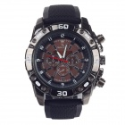 Super speed V6 V0180 Racer Quartz Movement Wrist Watch for Man - Black + Brown+White