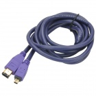 Millionwell 01.0297 Gold-Plated IEEE1394 4-Pin to 6-Pin Data Cable - Purple (1.8m)