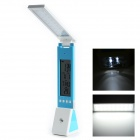"Folding Design 3.8"" LCD Rechargeable 10W 18-LED Touch Dimming Table Lamp w/ Emergency Torch - Blue"
