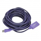 Millionwell 01.0290 USB 2.0 Male to Female Data Extender Cable w/ Signal Amplifier - Purple (10m)