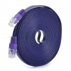 MILLONWELL 15U Gold Plated Pin Cat.6 8P8C RJ45 Flat Ethernet Cable for Modem / Router - Purple (5M)