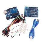 UNO R3 + Board + Expansion Board / Mini Bread Board + Jumper Cables für Arduino Set - Blau + Schwarz