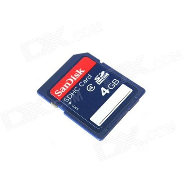 Genuine SanDisk SDHC SD Memory Card (4GB / Class 2)