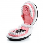 CZ-003 Creative Teeth Shape Telephone - White + Black + Red