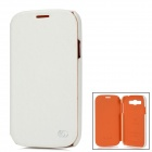 Kuchi Stylish Protective PU Leather Case for Samsung Galaxy Grand Duos i9082 - White