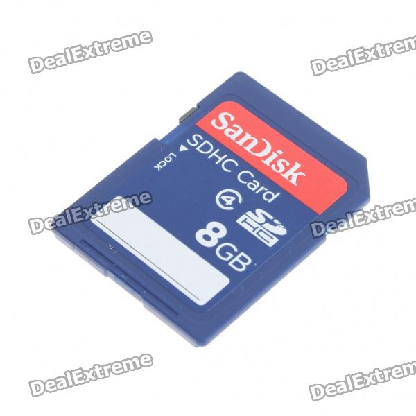Genuine SanDisk SDHC SD Memory Card (8GB / Class 4) genuine kingmax micro sd sdhc card with sd card adapter 8gb class 10