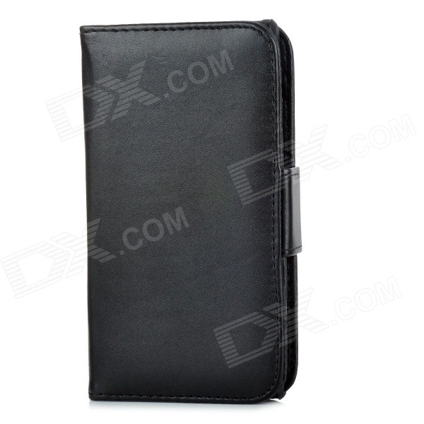 Protective PU Leather Flip Open Case w/ Card Slots for Sony L36h / Xperia Z - Black