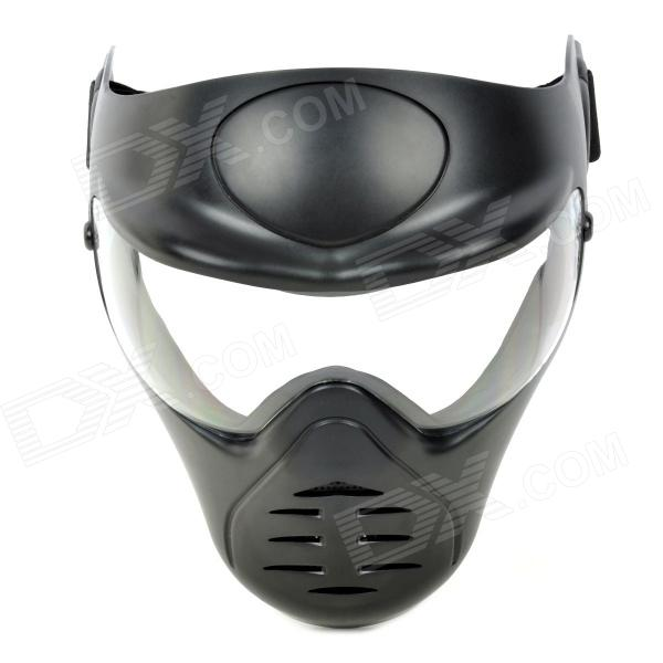 CORDURA Stylish War Game Protection Face Mask Shield - Black qiuzhang sw2108 outdoor war game military protective skeleton half face shield mask black