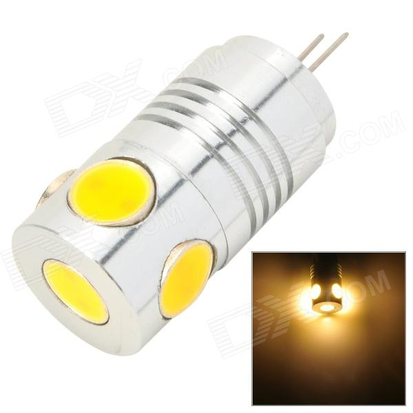 MSLED Pi05 G4 5W 160lm 3500K 5-COB LED Flood Beam Warm White Light Bulb (AC / DC 12V) g4 bi pin led bulb mini silicone 1505 cob spot light 12v dc warm cool white