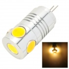MSLED Pi05 G4 5W 160lm 3500K 5-COB LED Flood Beam Warm White Light Bulb (AC / DC 12V)