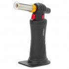 HONEST 511JET Portable Handheld Windproof 1300'C Metal Melting Butane Jet Torch - Black + Silver