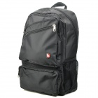 Oiwas OCB4105 Outdoor Travel Water Resistant Nylon Notebook Laptop Backpack Bag - Black (19L)