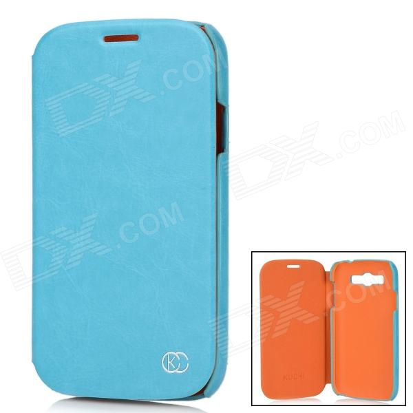 Kuchi Stylish Protective PU Leather Case for Samsung Galaxy Grand Duos i9082 - Sky Blue protective pu leather plastic case for samsung galaxy grand duos i9082 black