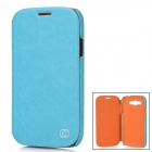 Kuchi Stylish Protective PU Leather Case for Samsung Galaxy Grand Duos i9082 - Sky Blue