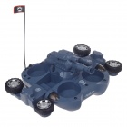 Cool Radio Remote Control Amphibious Tank w/ Shoot Set - Grey (40MHz)