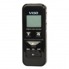 "VR102 1.1"" LCD Digital USB Rechargeable Voice Recorder w/ TF card Slot - Black"