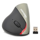 Universal 1600DPI 2.4GHz Wireless Rechargeable Ergonomic Vertical Mouse - Black + Gray