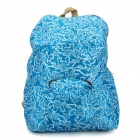Portable Foldable Waterproof Backpack Bag - Blue