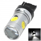 T20 15W 720lm 1 x Cree XP-E + 4 x LED Condensing Lens Cool White Car Steering / Brake Light (9~30V)