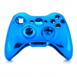 Replacement ABS Full Case for Xbox 360 Wireless Controller - Blue