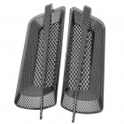 Decorative Carbon Mesh Sticker for Car Air Condition Vent - Black + Grey (2 PCS)