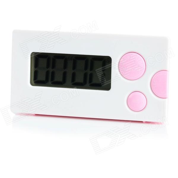 "HAPTIME YGH-116 1.85"" LCD 4-Digital Kitchen Timer - White + Pink (1 x AAA) от DX.com INT"
