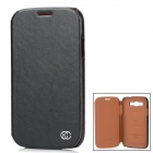 Kuchi Stylish Protective PU Leather Case for Samsung Galaxy Grand Duos i9082 - Black