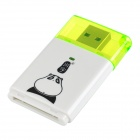 Kawau C311 Super Speed USB 3.0 SD / SDHC / SDXC / MMC Card Reader - White + Translucent Green