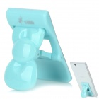 U-dilis U-1 Bowknot Style Multifunction Stand Holder Support Clip for Iphone / Cell Phone - Blue