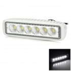 Waterproof 18W 1440lm 6500K 6-LED White Light 90 Degree Flood Beam Daytime Running Light / Fog Light