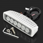 Vattentät 18W 1440lm 6500K 6-LED Vitljus 90 Degree Flood Beam Daytime Running Light / Dimljus
