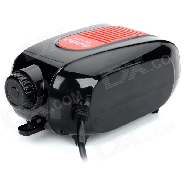 SOBO SB-1106 5.8W Adjustable Aquarium Silent Air Pump - Black + Red (220~240V)