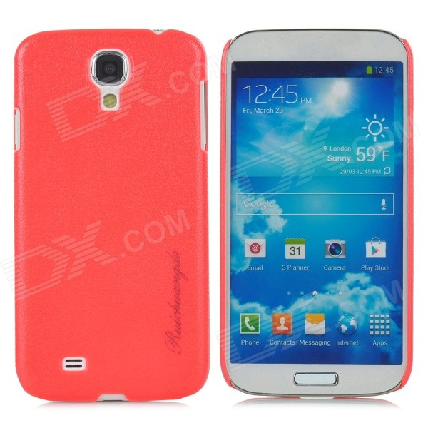 Protective Snake Skin Plastic Back Case for Samsung Galaxy S4 / i9500 - Red аксессуар чехол xiaomi mi note skinbox slim silicone transparent t s xmn 006