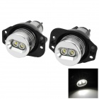 E90 10W 500lm 2-Cree XR-E Q5 Angel Eyes Car Headlamps (8~30V / 2 PCS)