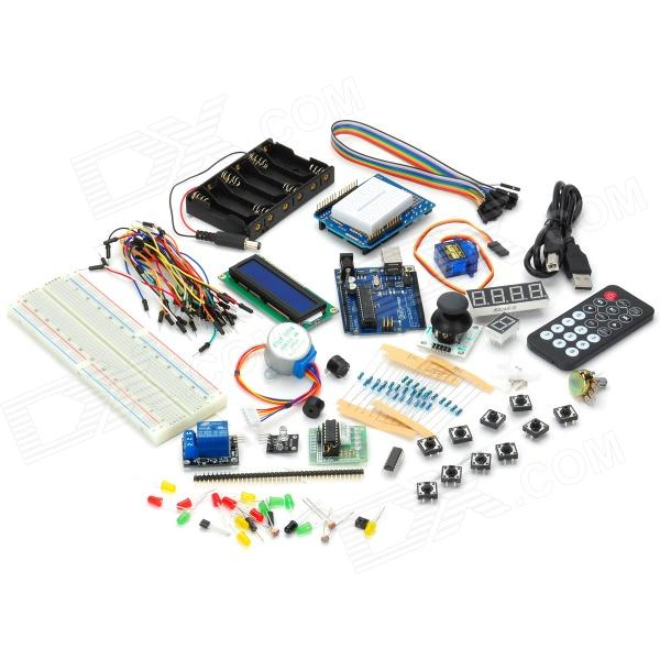 TJ UNO R3 Starter Learning Singlechip Set Kit - Multicolored - (Works with official Arduino Boards) saq high voltage board w cable for tube of 10 22 lcd monitor green multicolored