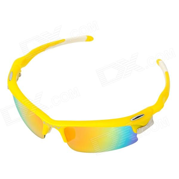 Фото - ESDY FJ AC Cool Outdoor Cycling Revo Lens Goggles w/ Replaceable Polarized Lens - Yellow slr telephoto lens led white light keychain w sound effect yellow black orange 3 x ag13