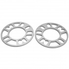 8mm Zinc Alloy Wheel Hub Gasket - Silver (2 PCS)