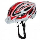 SMS S-5 Outdoor Bike Bicycle Cycling PC + EPS Safety Helmet - Red + White