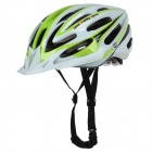 SMS S-5 Cycling Bike Helmet - White + Green
