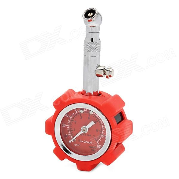 Alta precisión de acero inoxidable + ABS Car Tire Pressure Gauge / Meter w / Reset Función - Red