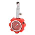High Precision Stainless Steel + ABS Car Tire Pressure Gauge / Meter w/ Reset Function - Red