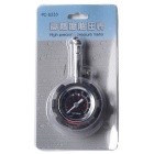 High Precision Stainless Steel + ABS Car Tire Pressure Gauge / medidor w / Função Repor - Preto