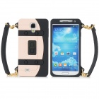 Protective_Handbag_Style_Silicone_Case_for Samsung Galaxy S4 / i9500 - Light Pink + Black