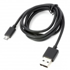 Lidu USB Male to Micro USB Male Data Sync & Charging Cable - Black (120cm)