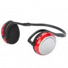AT-SD33 Hi-Fi MP3 Stereo Headphone w/ TF / Mini USB / FM - Red + Black + Silver