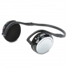 AT-SD33 Hi-Fi MP3 Stereo Headphone w/ TF / Mini USB / FM - Black + Silver
