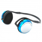 AT-SD33 Hi-Fi MP3 Stereo Headphone w/ TF / Mini USB / FM - Blue + Black + Silver