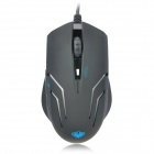 Qisan Crotalus USB 2.0 2000dpi Professionelle Optical Gaming Mouse - Schwarz