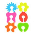Silicone Drinking Wine Cup Markers - Multicolored (6 PCS)