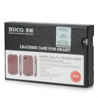 HOCO Genuine Cow Leather Top-Flip Open Case for Blackberry 9900/9930 - Brown